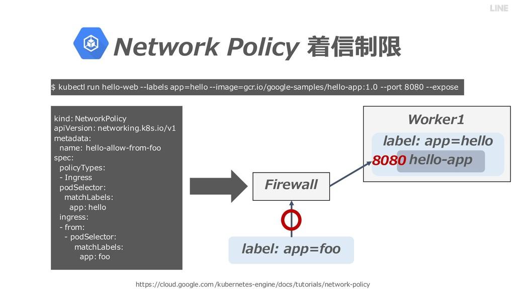 Network Policy 着信制限 https://cloud.google.com/ku...