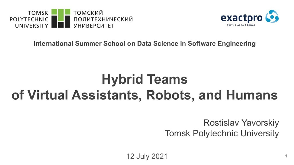 International Summer School on Data Science in ...