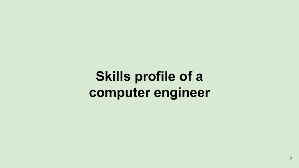 Skills profile of a computer engineer 2