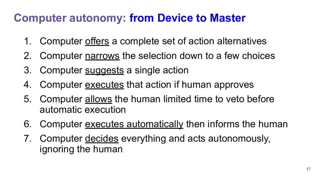 Computer autonomy: from Device to Master 1. Com...