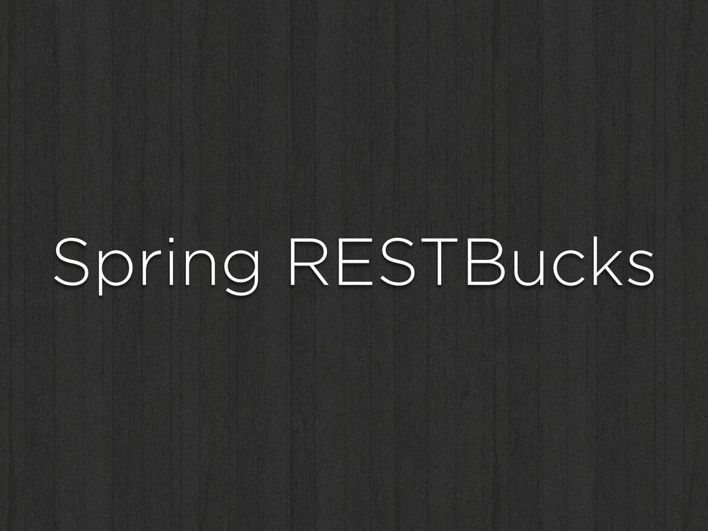 Spring RESTBucks