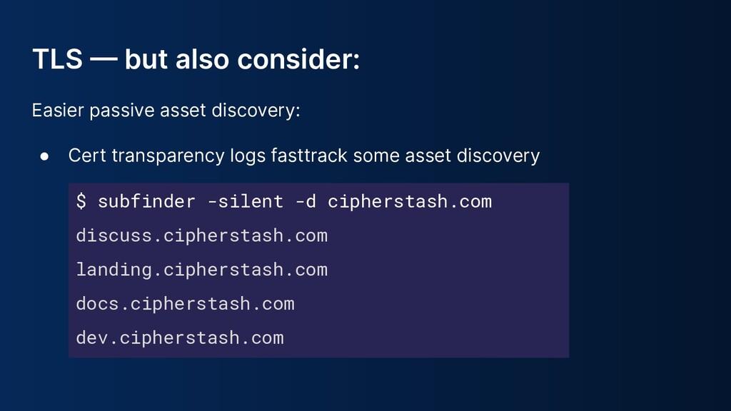 $ subfinder -silent -d cipherstash.com discuss....