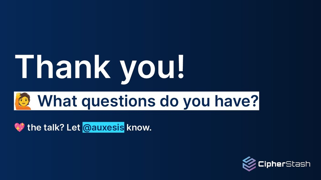 Thank you! 🙋 What questions do you have? 💖 the ...