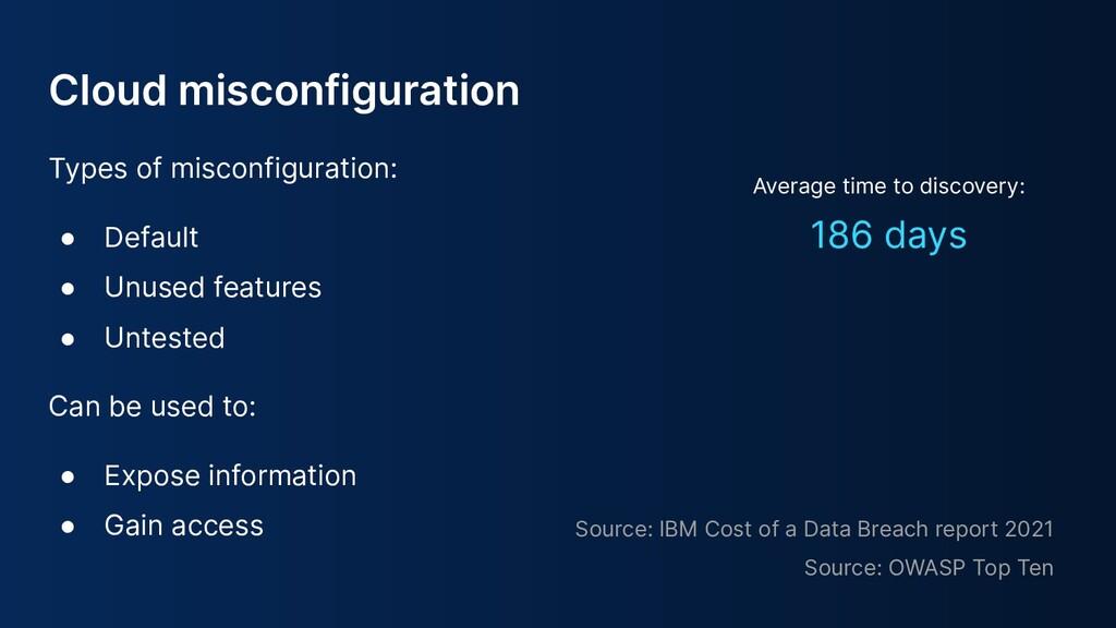 Cloud misconfiguration Types of misconfiguratio...