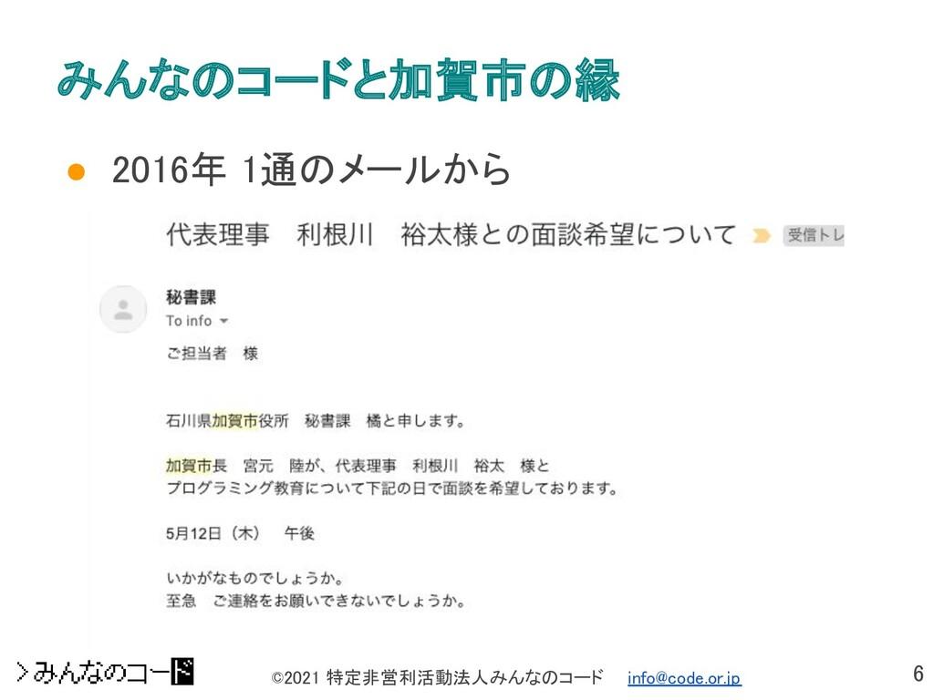 6 ©2021 特定非営利活動法人みんなのコード  info@code.or.jp みんな...
