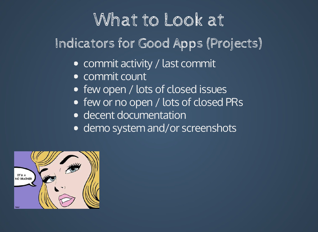 What to Look at Indicators for Good Apps (Proje...