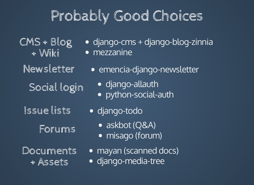 Probably Good Choices Forums CMS + Blog + Wiki ...