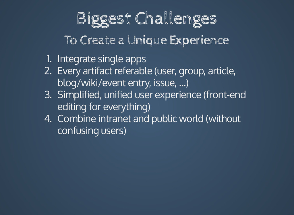 Biggest Challenges To Create a Unique Experienc...