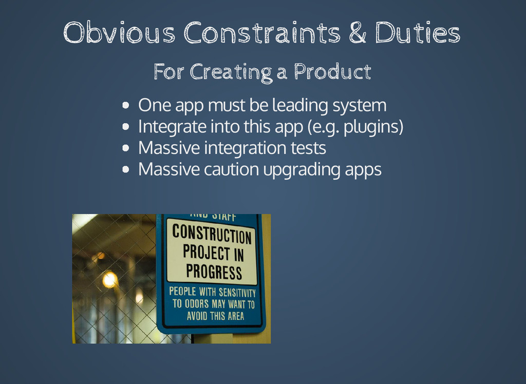 Obvious Constraints & Duties For Creating a Pro...