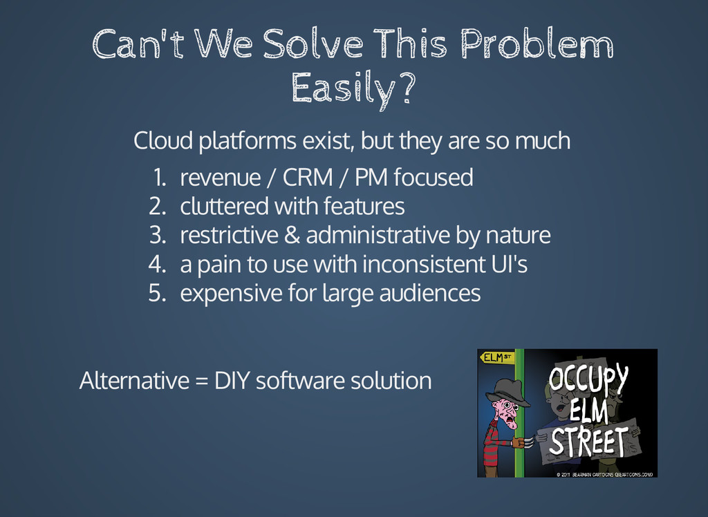 Can't We Solve This Problem Easily? Cloud platf...