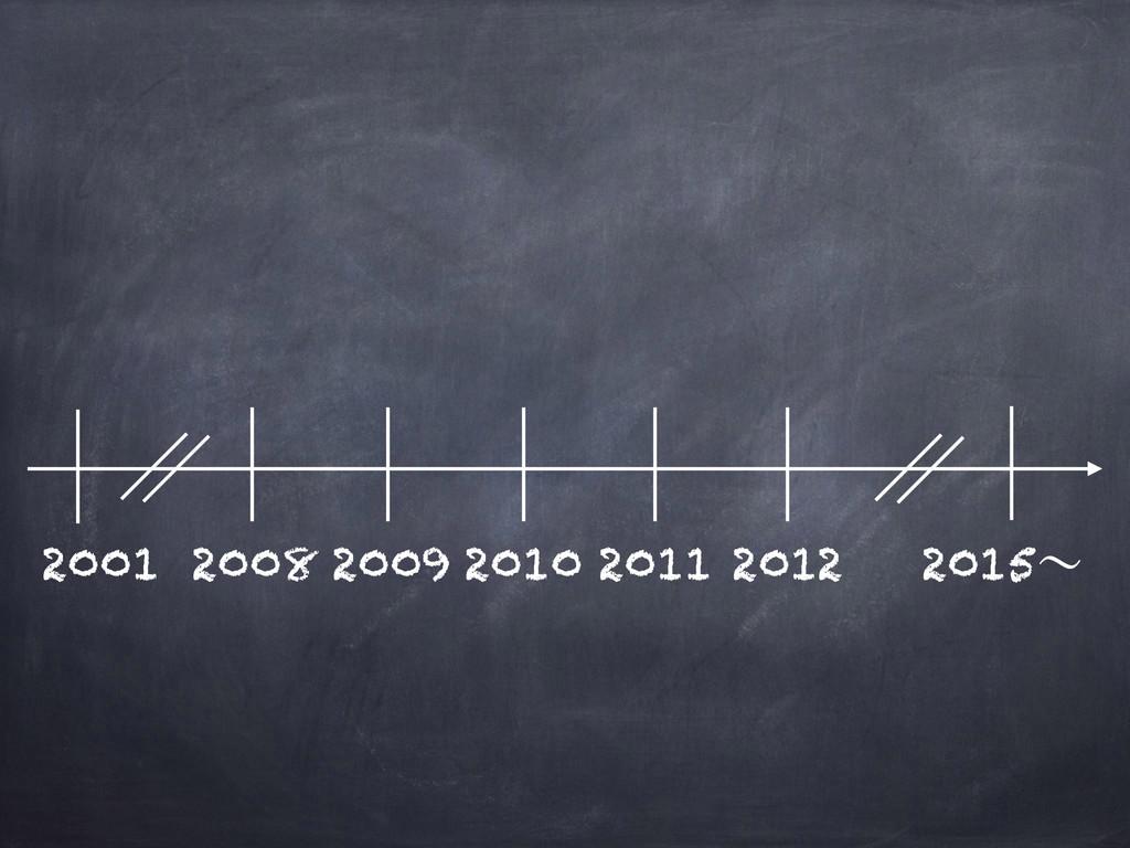 2001 2008 2009 2010 2011 2012 2015ʙ