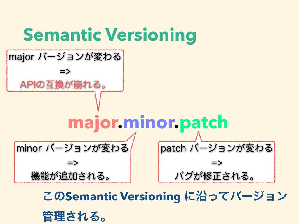 Semantic Versioning major.minor.patch NBKPSόʔδ...