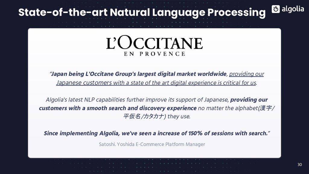 30 State-of-the-art Natural Language Processing...