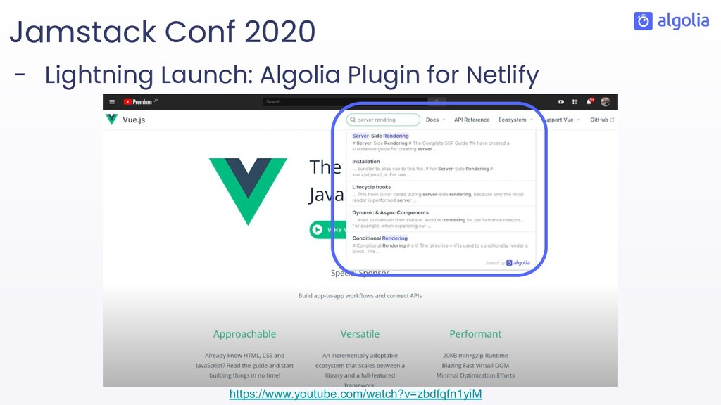 Jamstack Conf 2020 - Lightning Launch: Algolia ...