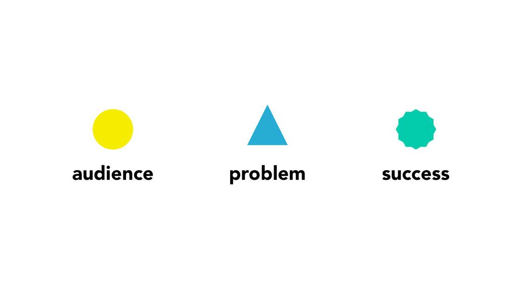 audience problem success