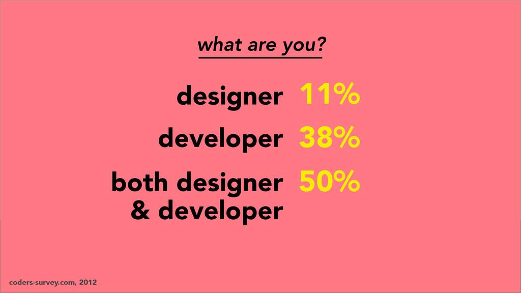 designer developer coders-survey.com, 2012 what...