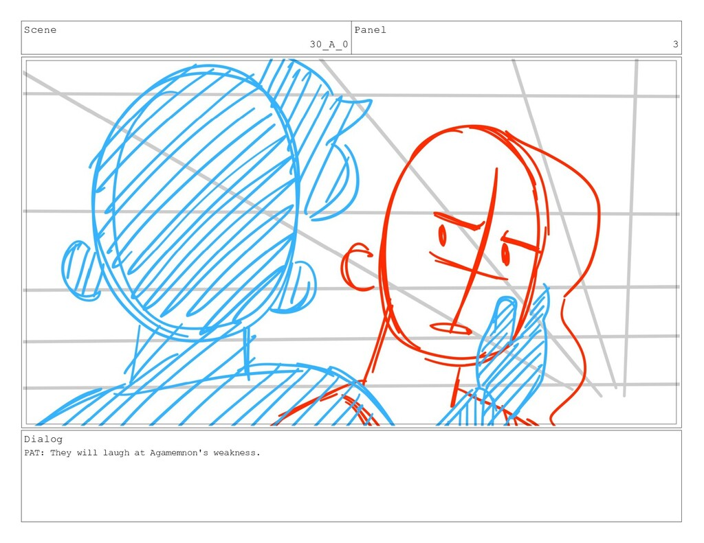 Scene 30_A_0 Panel 3 Dialog PAT: They will laug...