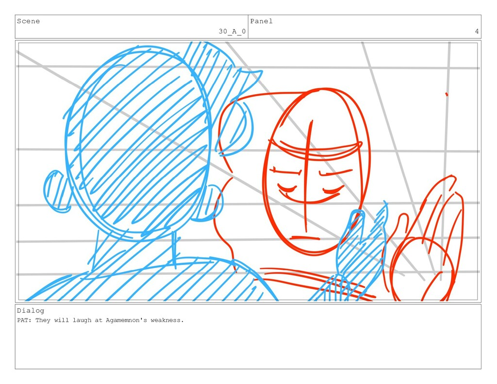 Scene 30_A_0 Panel 4 Dialog PAT: They will laug...