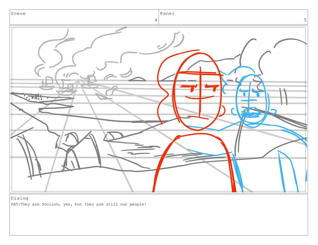 Scene 4 Panel 5 Dialog PAT:They are foolish, ye...