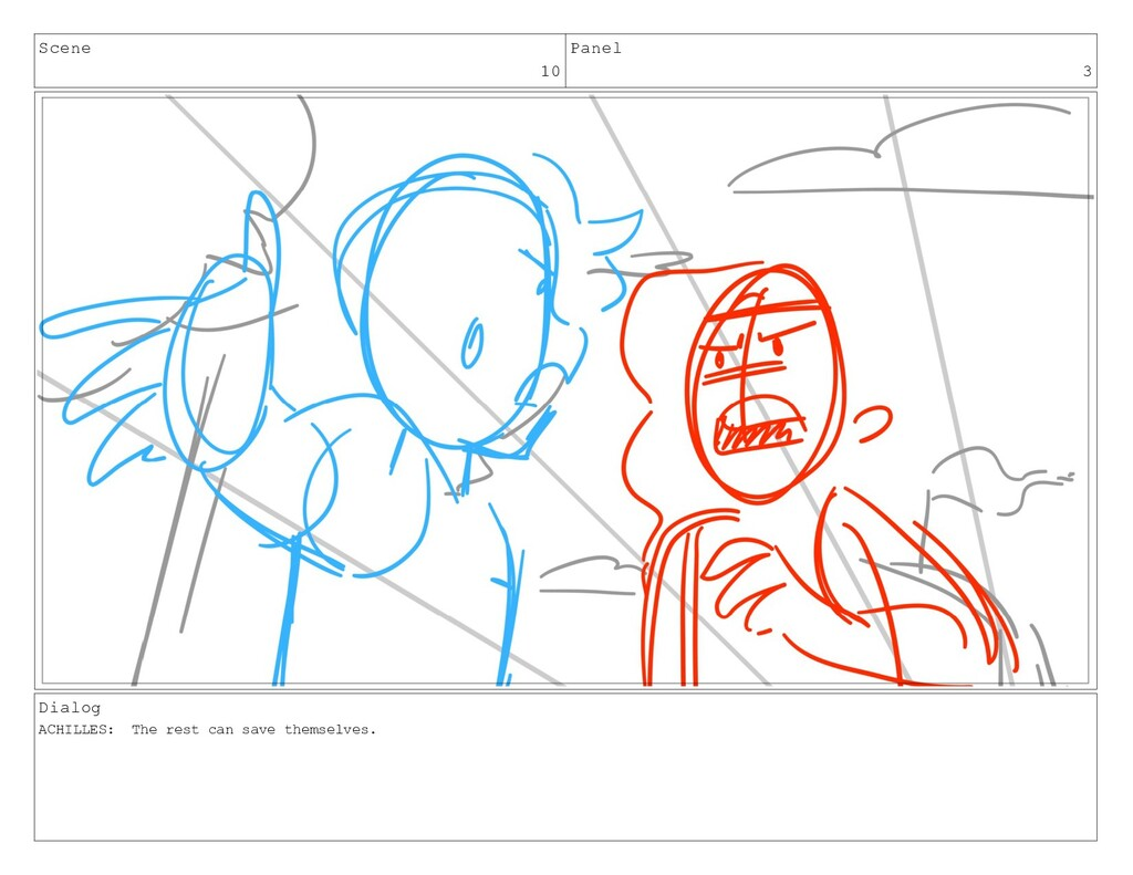 Scene 10 Panel 3 Dialog ACHILLES: The rest can ...