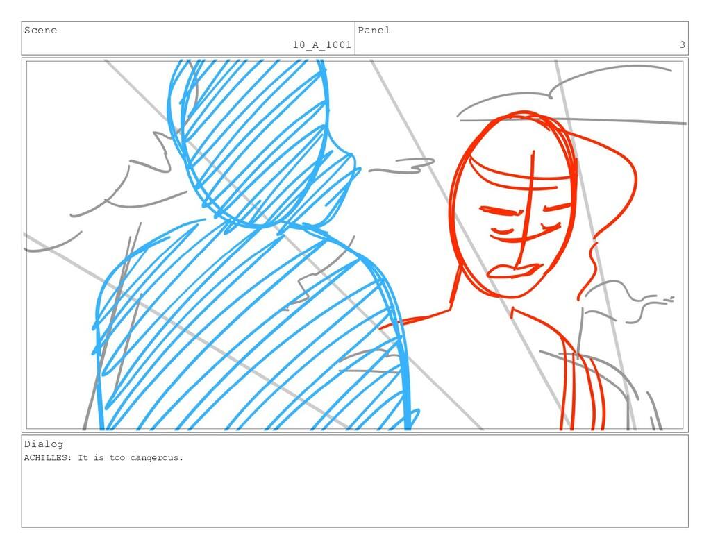Scene 10_A_1001 Panel 3 Dialog ACHILLES: It is ...