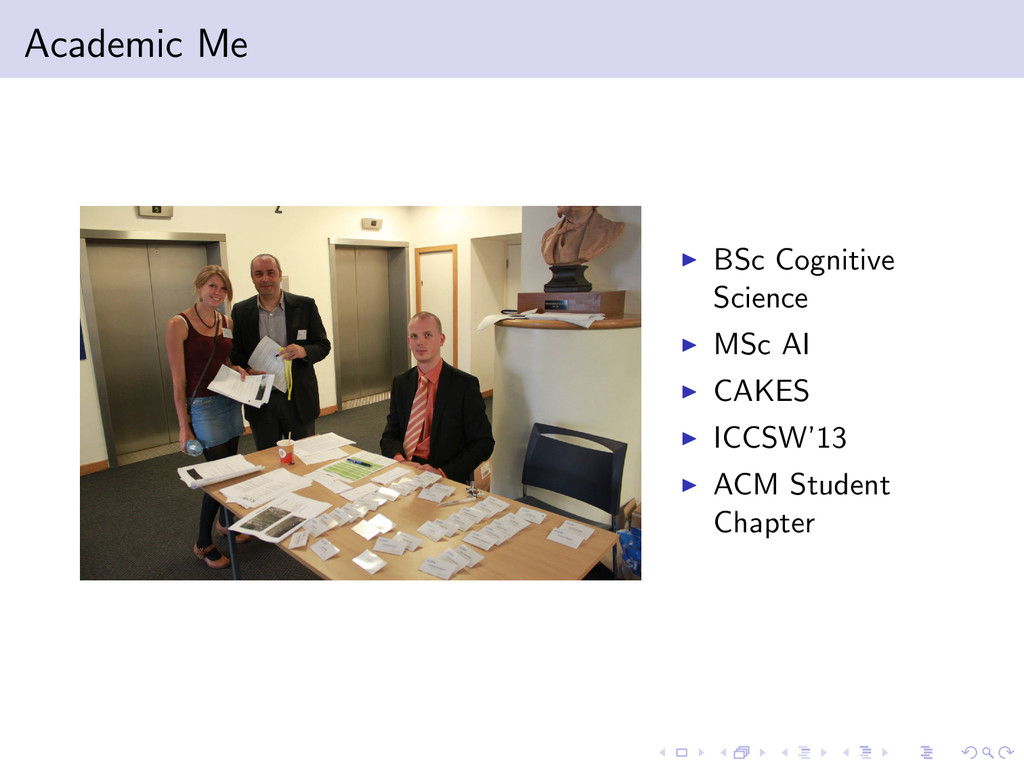 Academic Me BSc Cognitive Science MSc AI CAKES ...