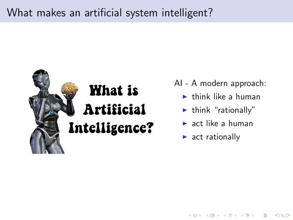 What makes an artificial system intelligent? AI ...