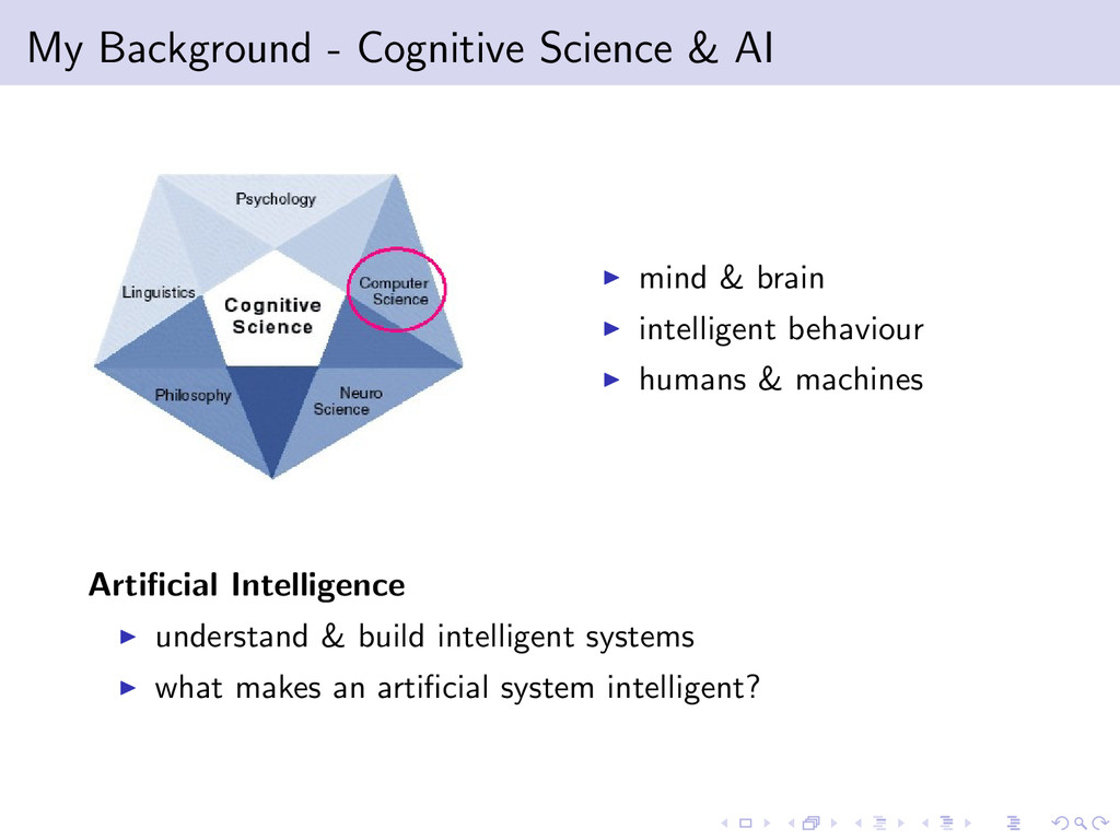 My Background - Cognitive Science & AI mind & b...