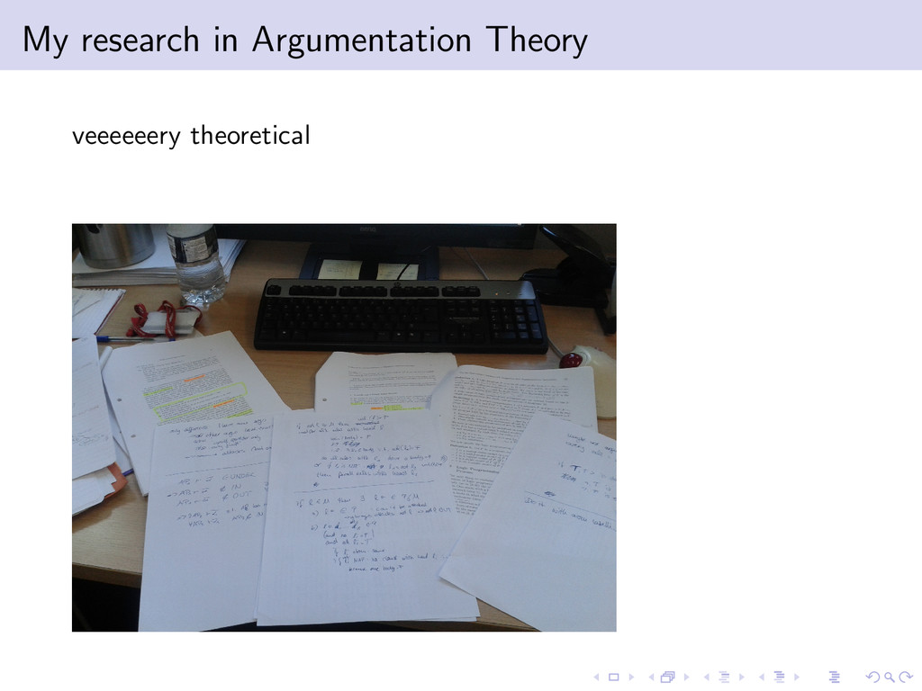 My research in Argumentation Theory veeeeeery t...