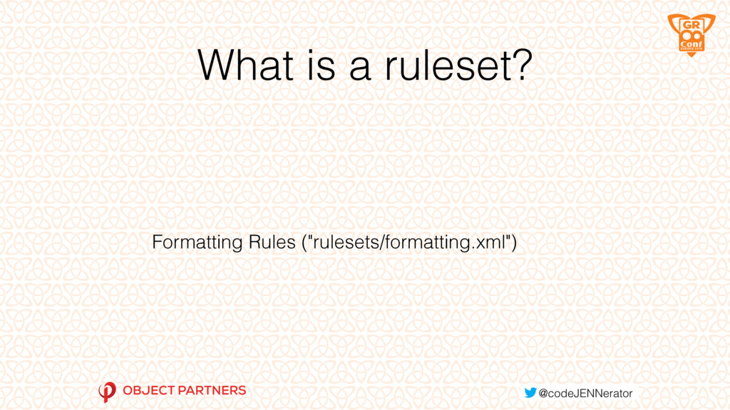 """What is a ruleset? Formatting Rules (""""rulesets/..."""