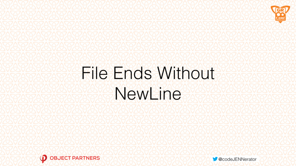 File Ends Without NewLine