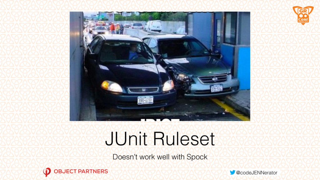 JUnit Ruleset Doesn't work well with Spock