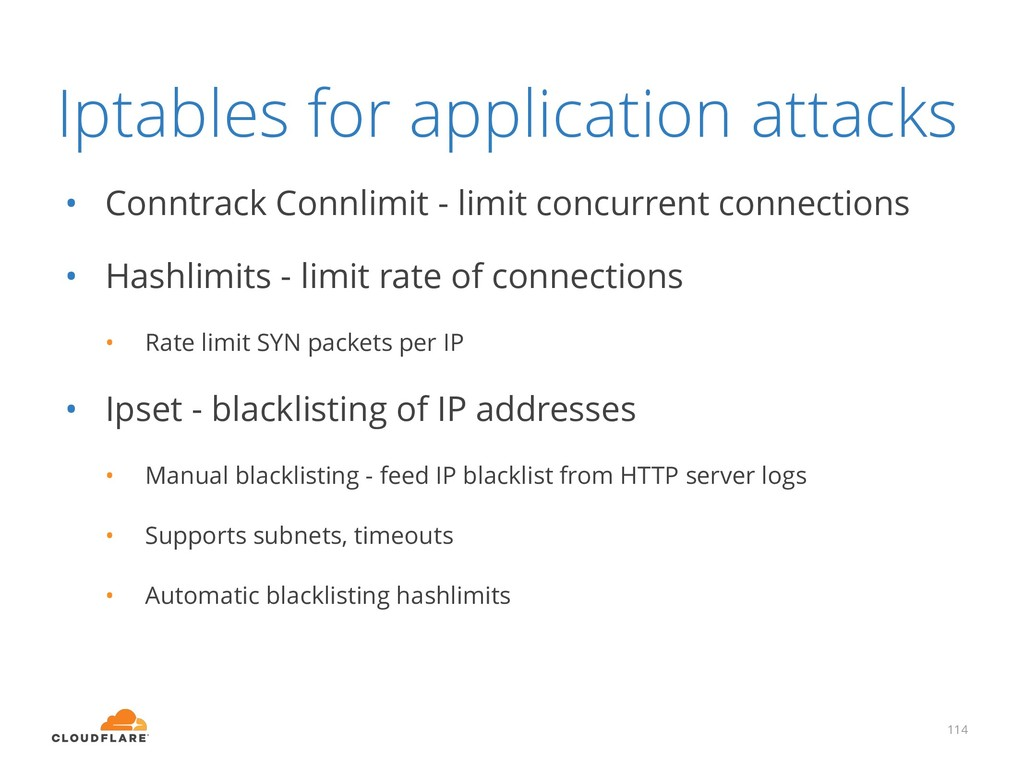 Iptables for application attacks • Conntrack Co...