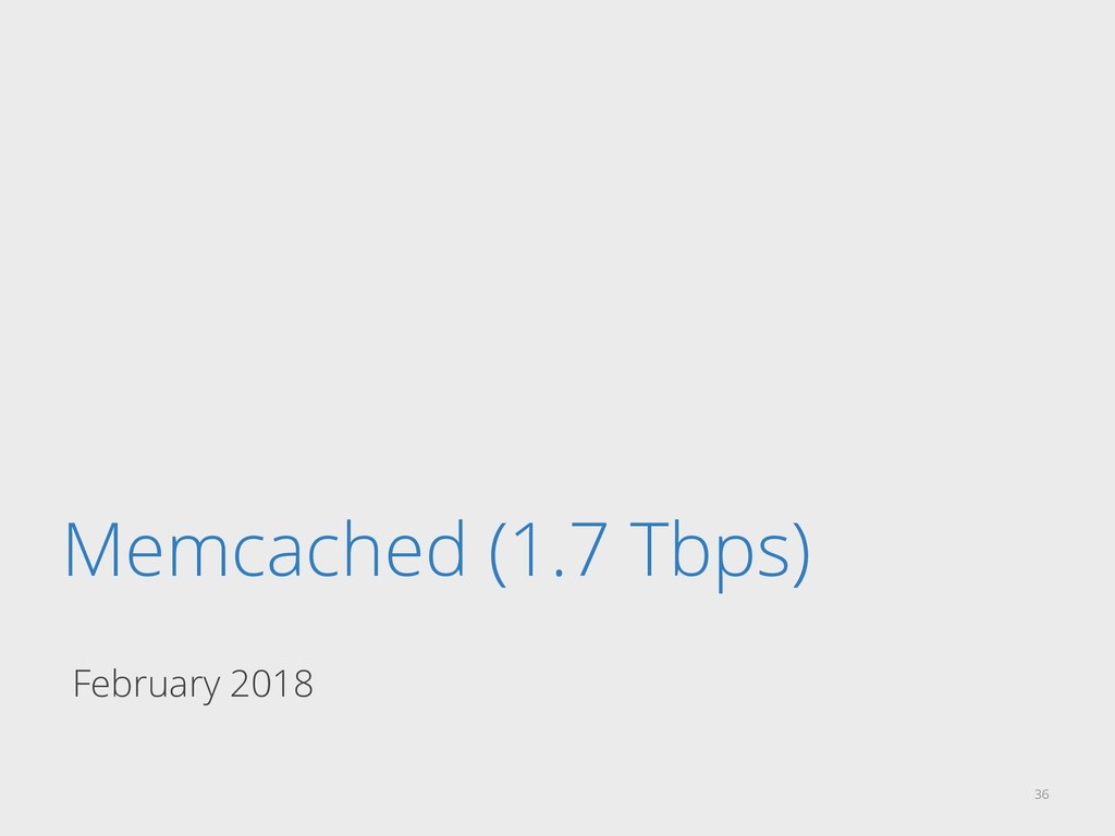 Memcached (1.7 Tbps) February 2018 36