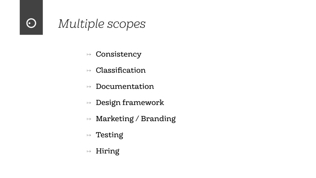 Multiple scopes ↦ Consistency ↦ Classification ↦...