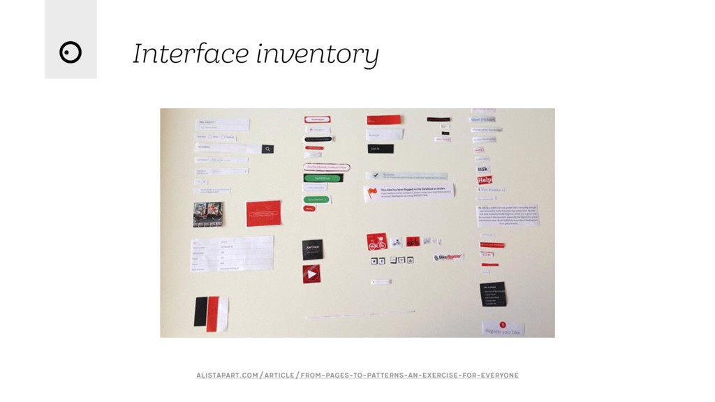 Interface inventory alistapart.com/article/from...