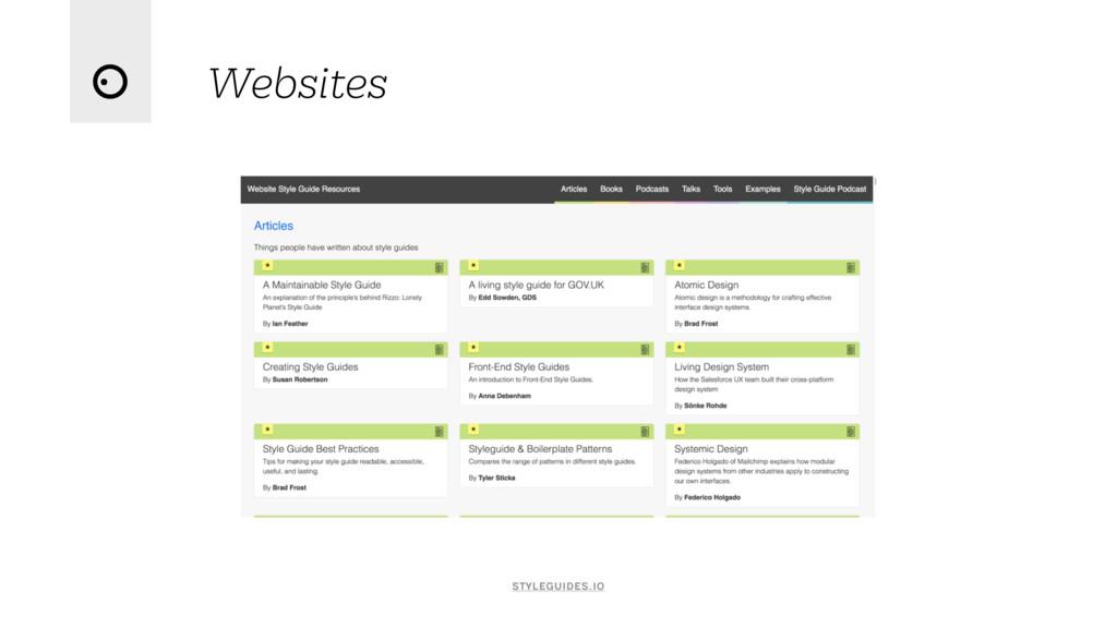 Websites styleguides.io