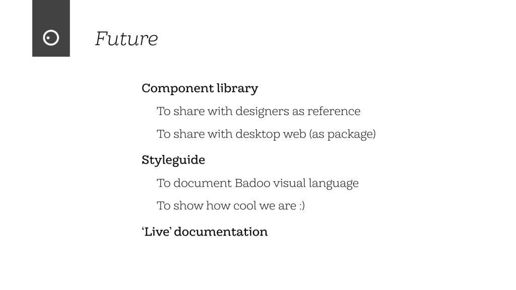 Future Component library To share with designer...