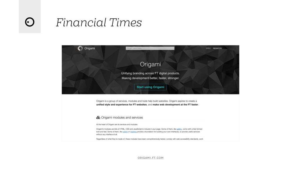 Financial Times origami.ft.com