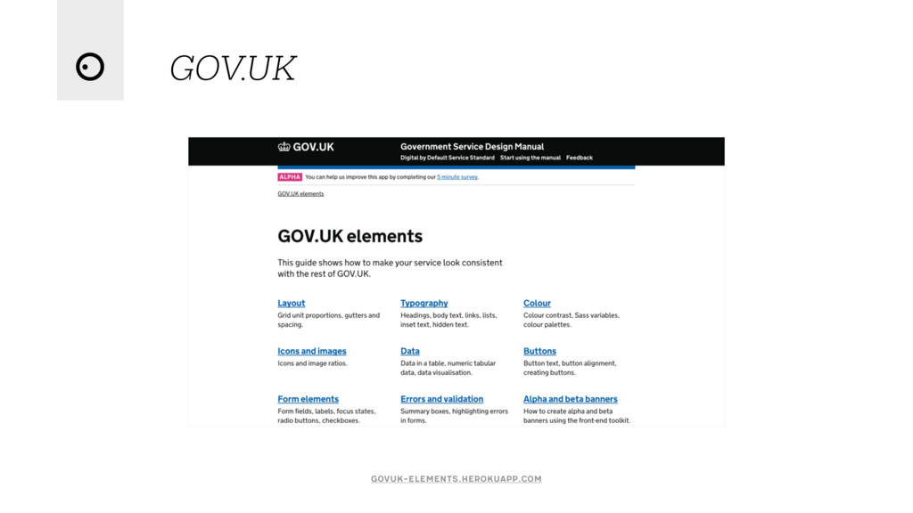 GOV.UK govuk-elements.herokuapp.com