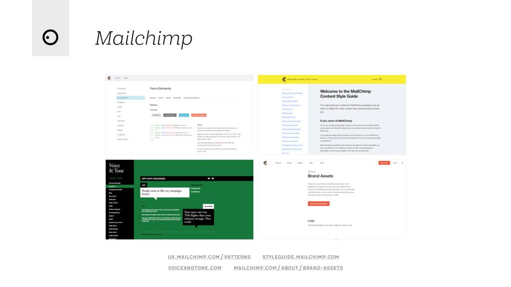 Mailchimp voiceandtone.com ux.mailchimp.com/pat...