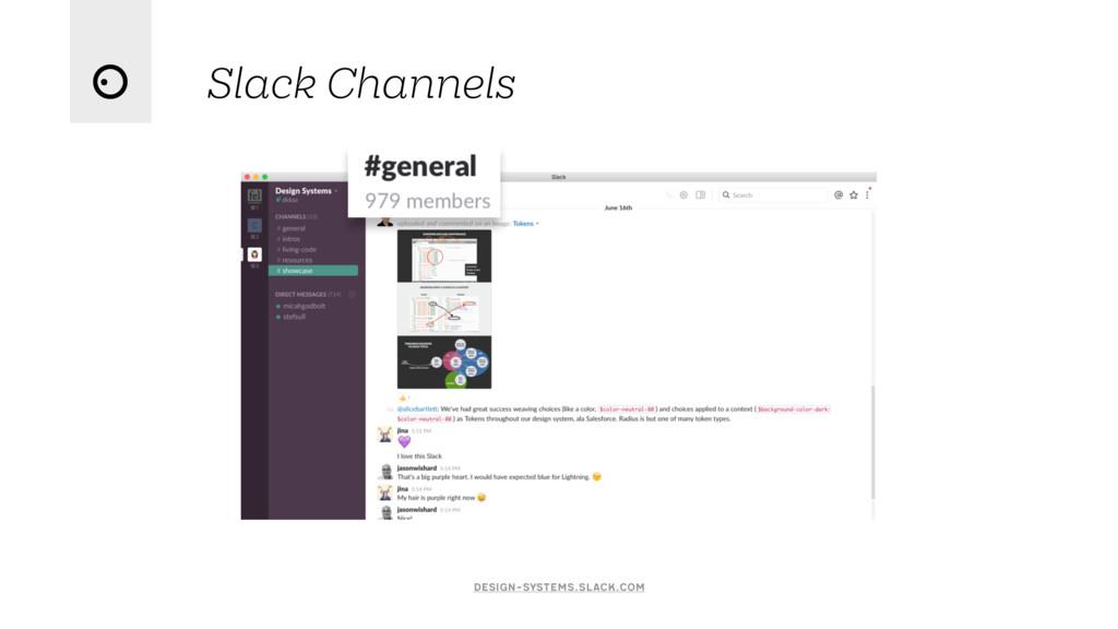 Slack Channels design-systems.slack.com