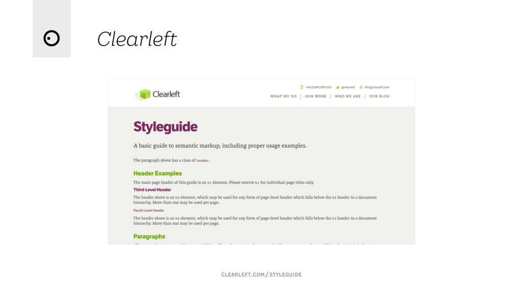 Clearleft clearleft.com/styleguide