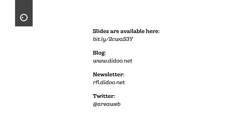 Slides are available here: bit.ly/2cwaS3Y Blog:...