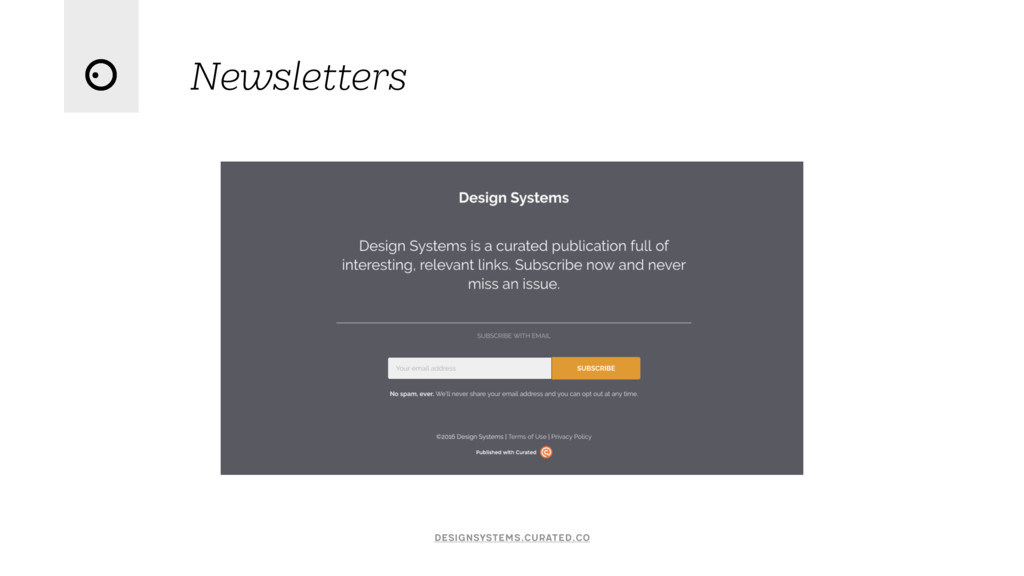 Newsletters designsystems.curated.co