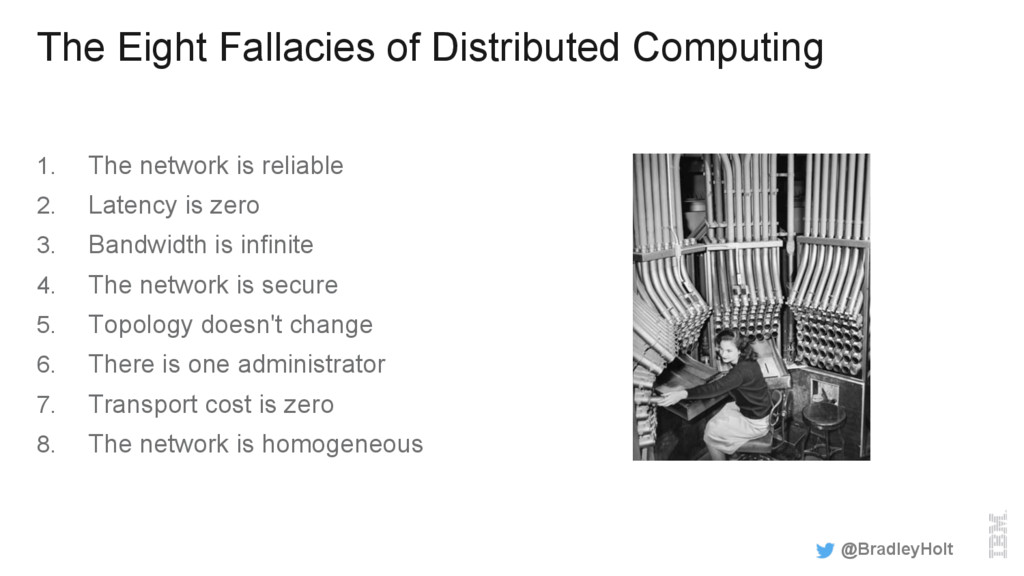The Eight Fallacies of Distributed Computing 1....