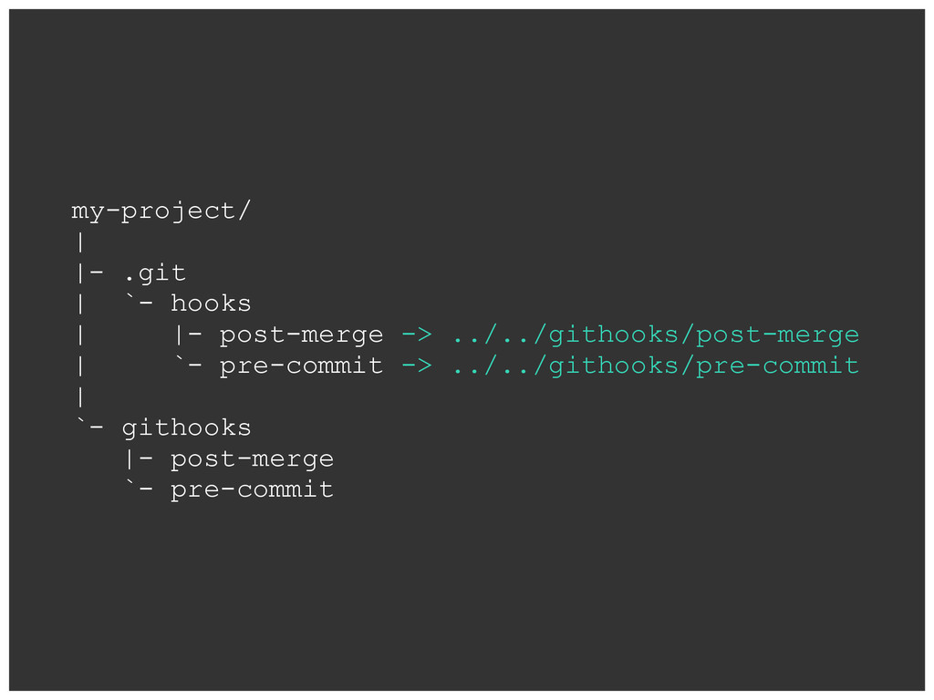 my-project/ | |- .git | `- hooks | |- post-merg...