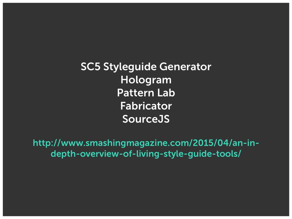 SC5 Styleguide Generator Hologram Pattern Lab...