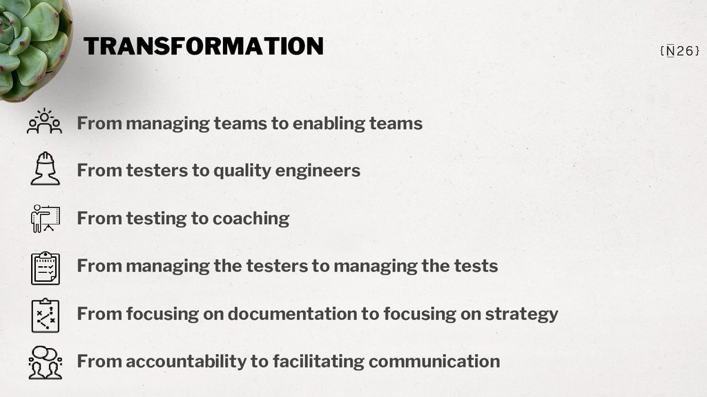 TRANSFORMATION From managing teams to enabling ...