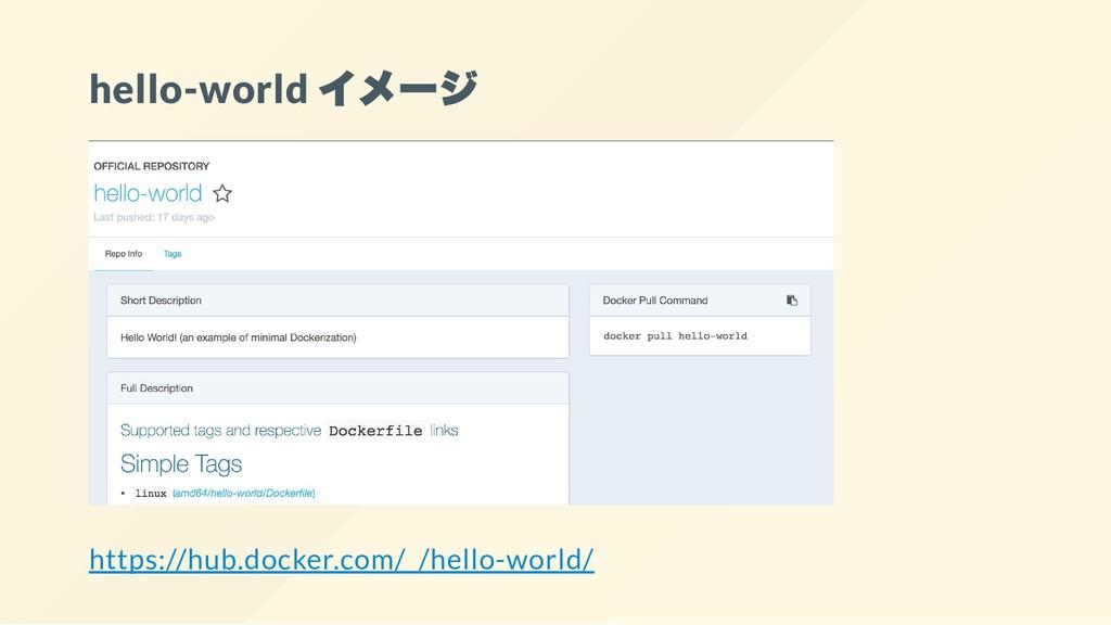hello-world イメージ https://hub.docker.com/_/hello...